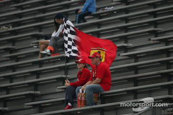Ferrari Fans in the grandstand