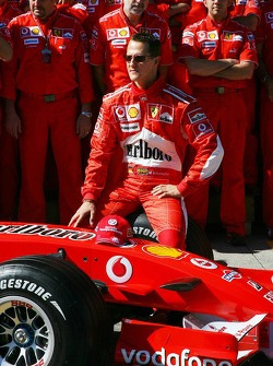 Scuderia Ferrari photoshoot: Michael Schumacher