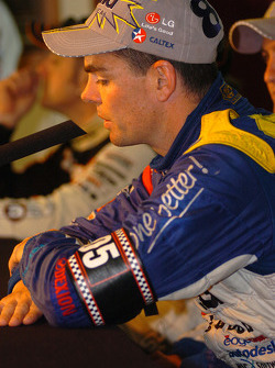 Craig Lowndes with his 'Brocky' armband