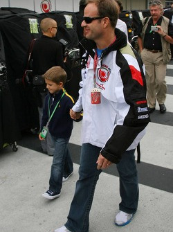 Rubens Barrichello with his son Eduardo