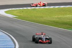 Kimi Raikkonen and Michael Schumacher