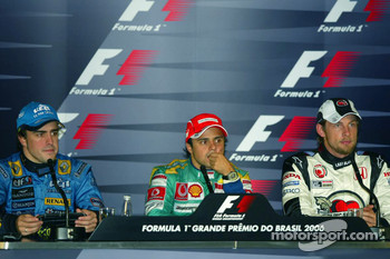 FIA press conference: 2006 F1 World Champion Fernando Alonso, race winner Felipe Massa and Jenson Button