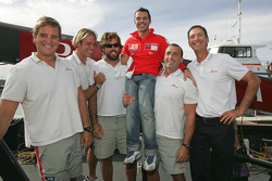 Visit to America's Cup sailing event's Luna Rossa Challenge: Loris Capirossi and friends