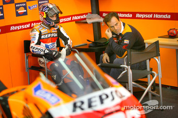 Dani Pedrosa and Alberto Puig