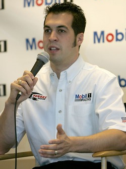 Press conference: Sam Hornish Jr. talks to media announcing the Mobil car for Penske racing to compete in the NASCAR Busch Series