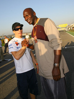Nicky Hayden and Michael Jordan