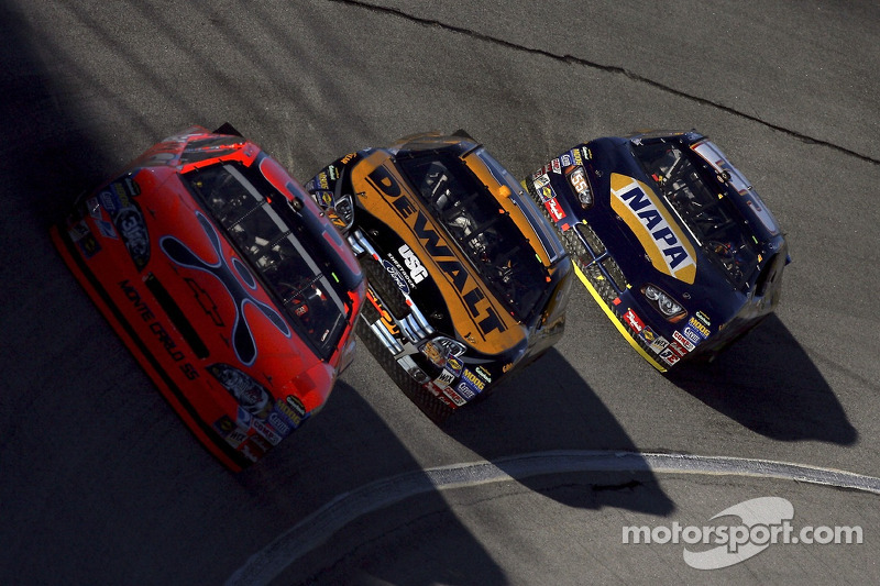 Jeff Burton, Matt Kenseth and Michael Waltrip