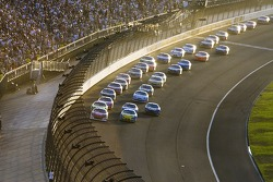 Kasey Kahne leads the restart