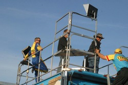 Richard Petty and Bobby Labonte watch qualifying