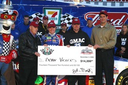 Pole check presented to Brian Vickers