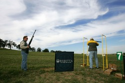 Beretta Celebrity Clay Shoot, at the Circle T Ranch in Fort Worth, Texas: a view of the surroundings as participants shoot