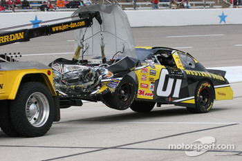Jay Sauter's car returns on the wrecker