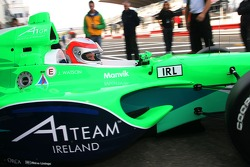 John Watson tests the A1Team Ireland car