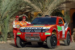 Team Repsol Mitsubishi Ralliart presentation in Morocco: Stéphane Peterhansel and Jean-Paul Cottret