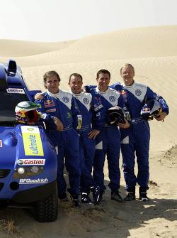 Volkswagen Motorsport presentation: drivers Carlos Sainz, Giniel de Villiers, Mark Miller, Ari Vartanen