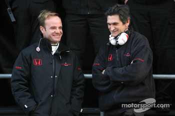Rubens Barrichello and Jacky Eaklehardt, Honda Racing F1 Team