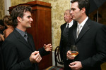Jeff Gordon talks with Jimmie Johnson prior to the NASCAR NEXTEL Cup Series awards ceremony