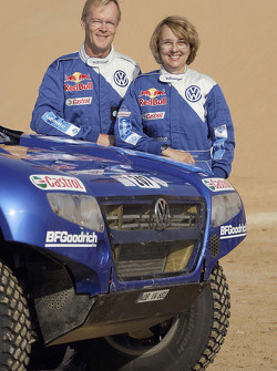 Volkswagen Motorsport presentation in Dubai: Ari Vatanen and Fabrizia Pons