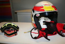 Helmet and gloves of Tom Kristensen