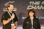 Race of Champions organizers Fredrik Johnsson and Michèle Mouton