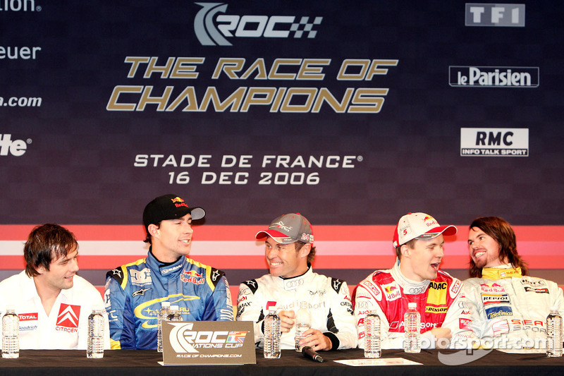 Sébastien Loeb, Travis Pastrana, Tom Kristensen, Mattias Ekström and James Thompson