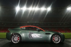 The Aston Martin V8 rally one of the competition cars in The Race of Champions
