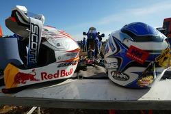 Team Rally Gauloises KTM: helmets of Cyril Despres and David Casteu
