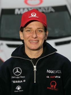 Team MAXDATA Mercedes-Benz presentation in the Unimog Museum in Gaggenau: Ellen Lohr