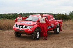 Orlen Team: Krzysztof Holowczyc and Jean-Marc Fortin with the Orlen Nissan