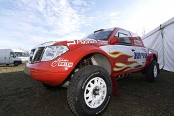 Orlen Team: the Orlen Nissan of Krzysztof Holowczyc and Jean-Marc Fortin