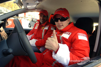 Marc Gene and Kimi Raikkonen