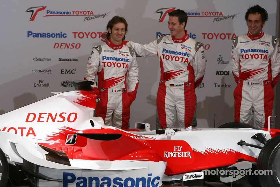 Jarno Trulli, Ralf Schumacher and Franck Montagny