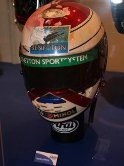 Jos Verstappen damaged Helmet