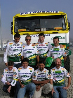 Tomas Tomecek Letka Racing Team: Jaromir Martinec with Petrobras team members
