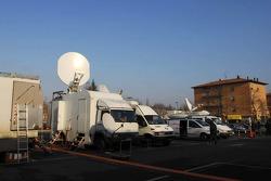 World media setup at Fiorano