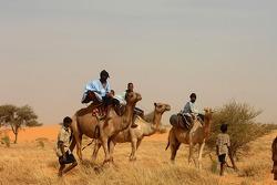 Local people near Néma