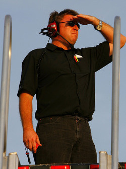 Robin Pemberton, crew chief of the #01 US Army Chevrolet driven by Mark Martin