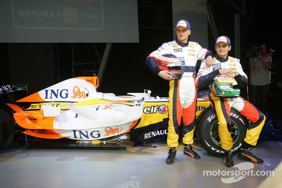 Heikki Kovalainen and Giancarlo Fisichella