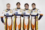 Heikki Kovalainen, Nelson A. Piquet, Riccardo Zonta and Giancarlo Fisichella
