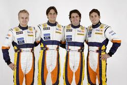 Heikki Kovalainen, Nelson A. Piquet, Riccardo Zonta and Giancarlo Fisichella