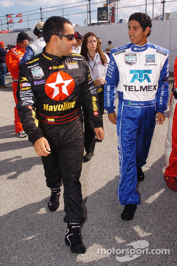 Juan Pablo Montoya and Salvador Duran