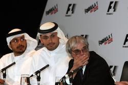 Sheikh Mohammed bin Zayed al Nahayan with Bernie Ecclestone