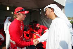 Kimi Raikkonen and Sheikh Mohammed bin Zayed al Nahayan