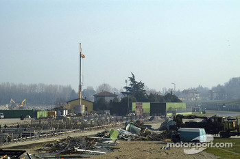 Construction work at the Imola Circuit  Autodromo Enzo E Dino Ferrari