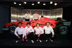 Adrian Valles, Fairuz Fauzy, Christijan Albers, Adrian Sutil, Giedo van der Garde and Marcus Winkelhock