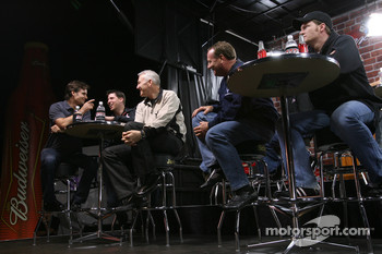 Jeff Gordon, Denny Hamlin, Dale Jarrett, Ken Schrader and Dale Earnhardt Jr.
