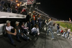 Fans enjoy the track before the race