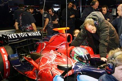 Vitantonio Liuzzi in the new STR2 and co-owner Gerhard Berger