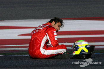 Felipe Massa stopped on track