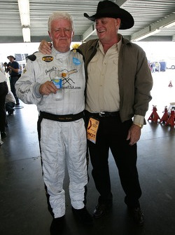 James Hylton with car owner J.C. Weaver